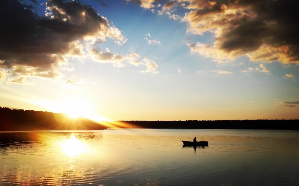 Jesionka - zachód słońca
