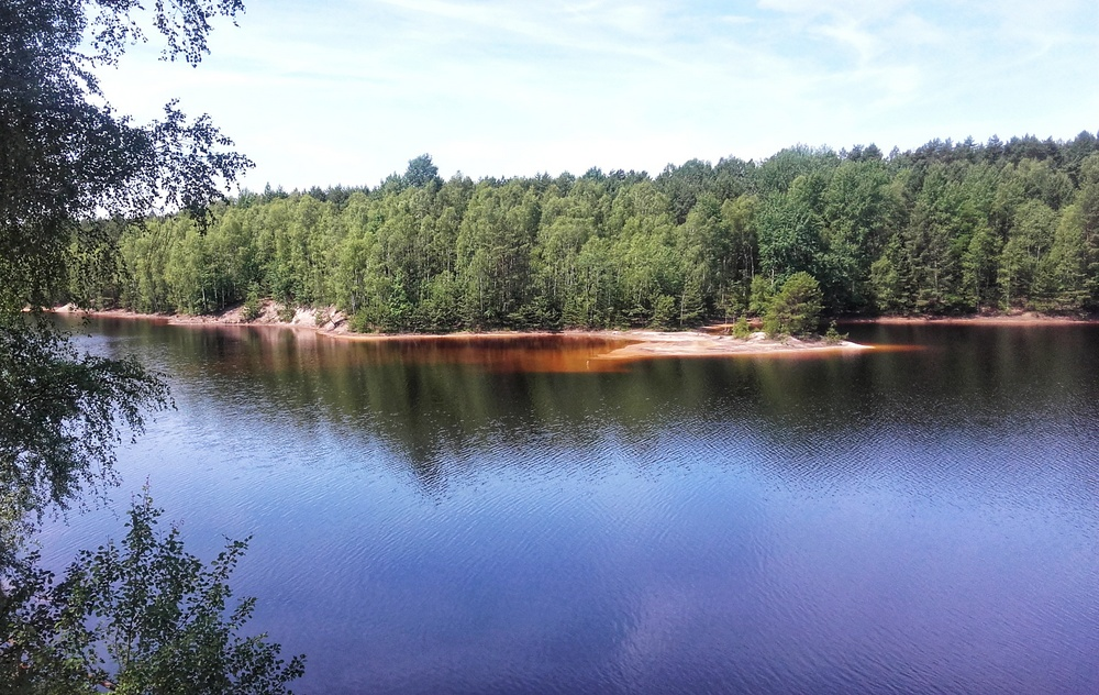 Widok na jezioro pokopalniane