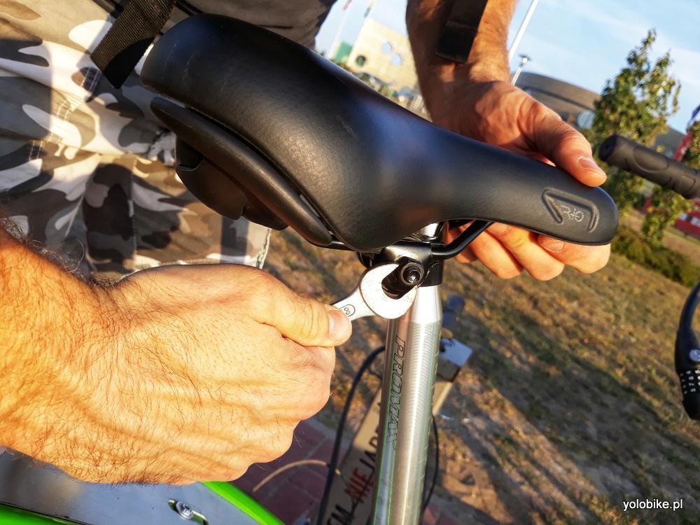 Zepsuty rower miejski w Zielonej Górze