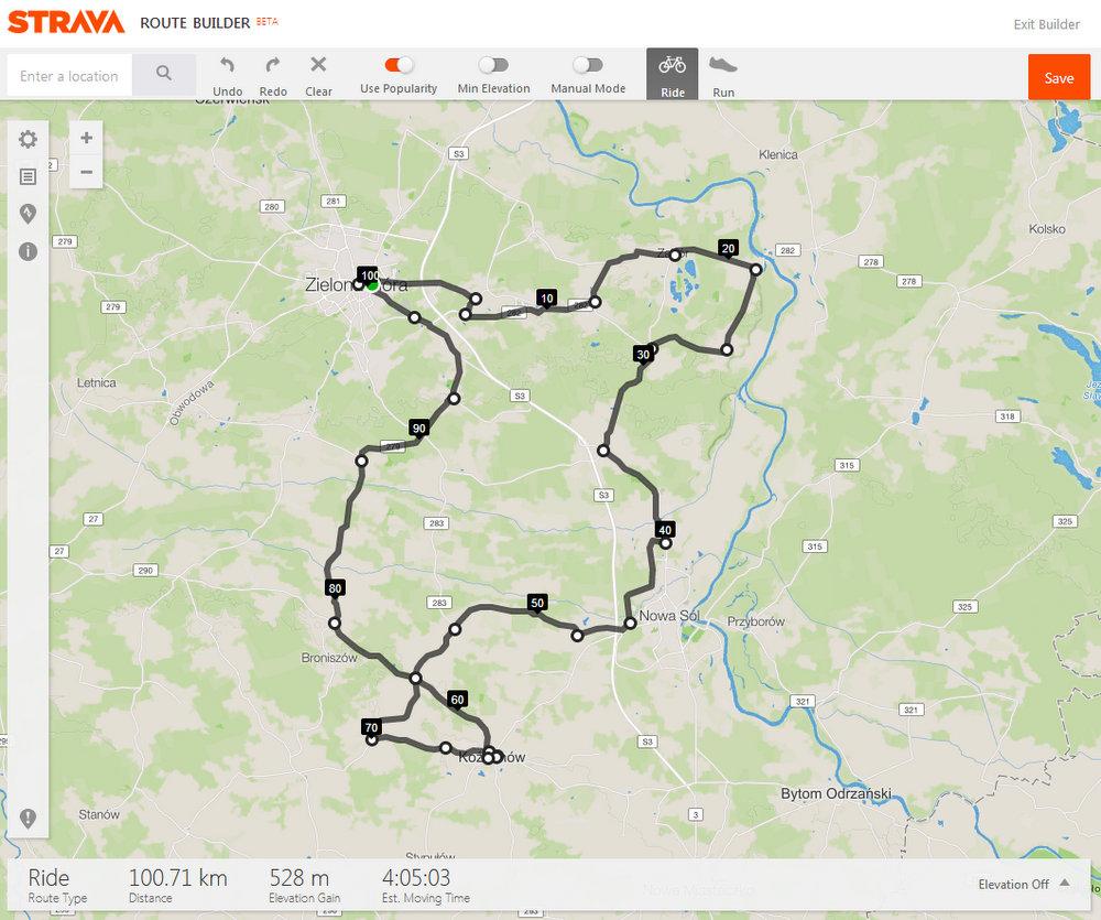 100 km na rowerze
