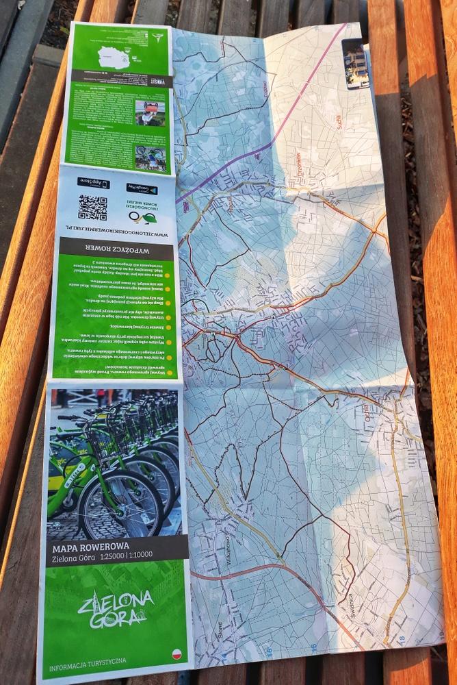 Mapa rowerowa po Zielonej Górze