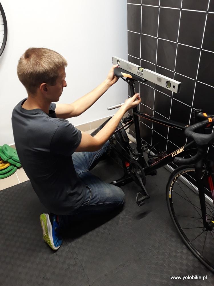 Bike fitting ustawienie siodełka