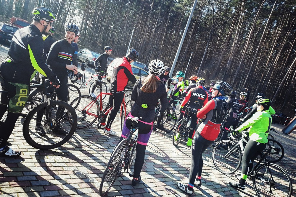 jazda w grupie kolarskiej
